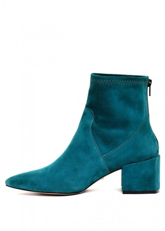 717604 Бирюзовые замшевые ботинки