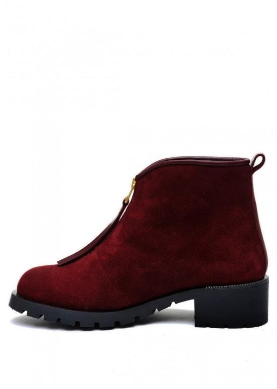 014001 Бордовые ботинки