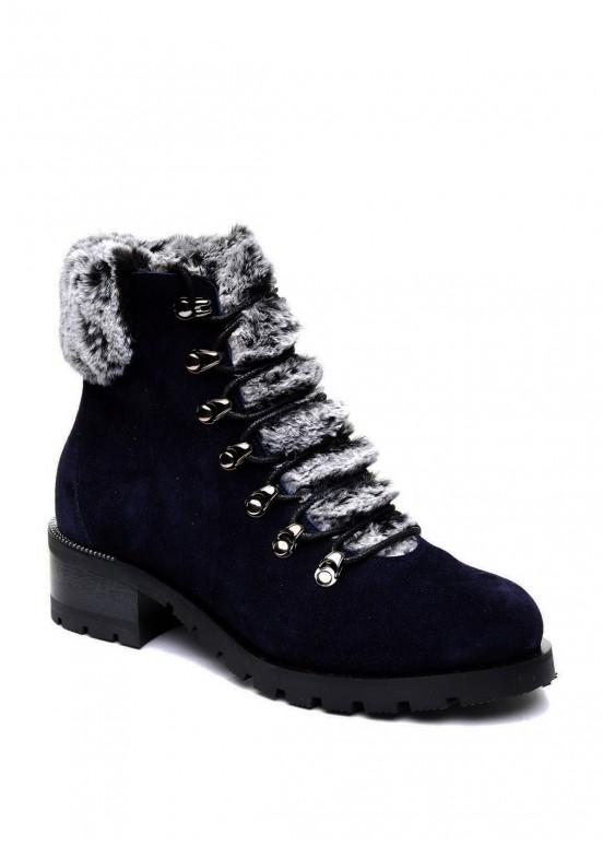 014821 Синие замшевые ботинки