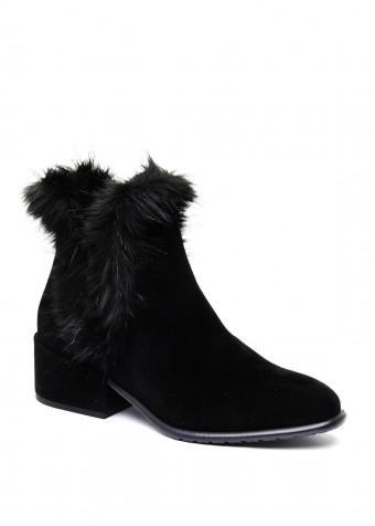 024401 Черные замшевые ботинки