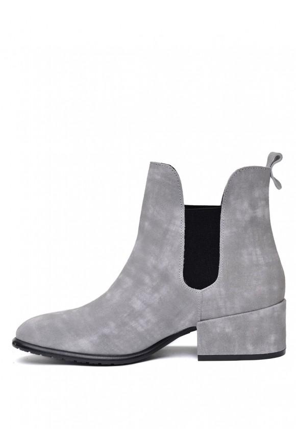 024701 Серые замшевые ботинки на меху