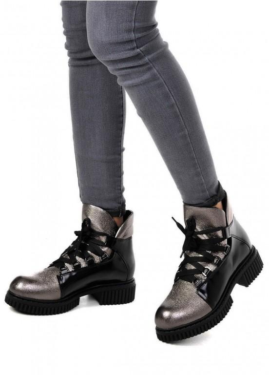 033022 Кожаные ботинки