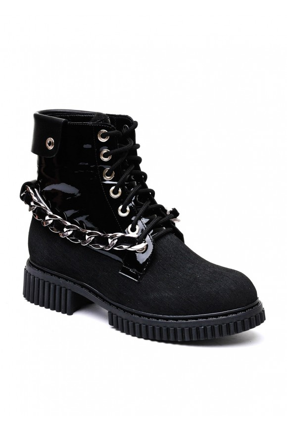 034302 Черные высокие ботинки
