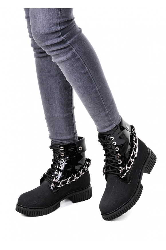 034302 Чорні високі черевики