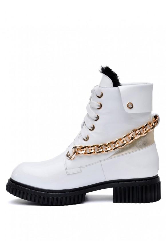 Белые Лаковые Ботинки