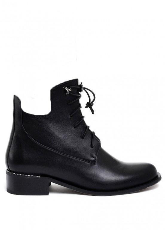 532104 Кожаные ботинки с чулком