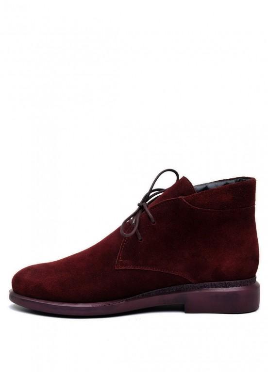 271101 Бордовые замшевые ботинки