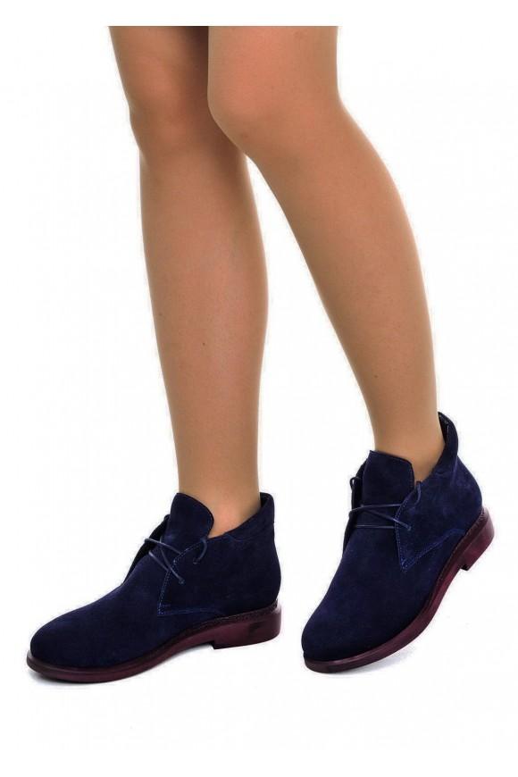 271111 Синие замшевые ботинки