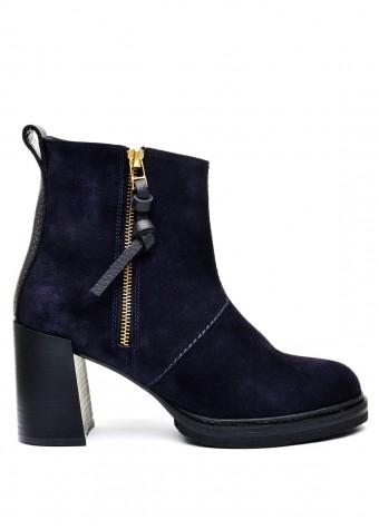 651803 Сині замшеві черевики
