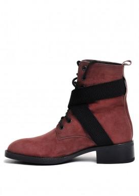 730111 Высокие замшевые ботинки