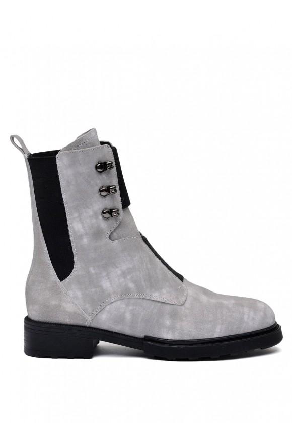 740101 Сірі замшеві черевики