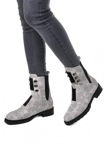 740101 Серые замшевые ботинки