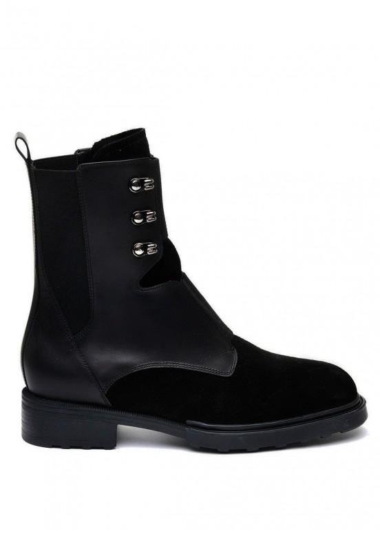 740111 Черные высокие ботинки