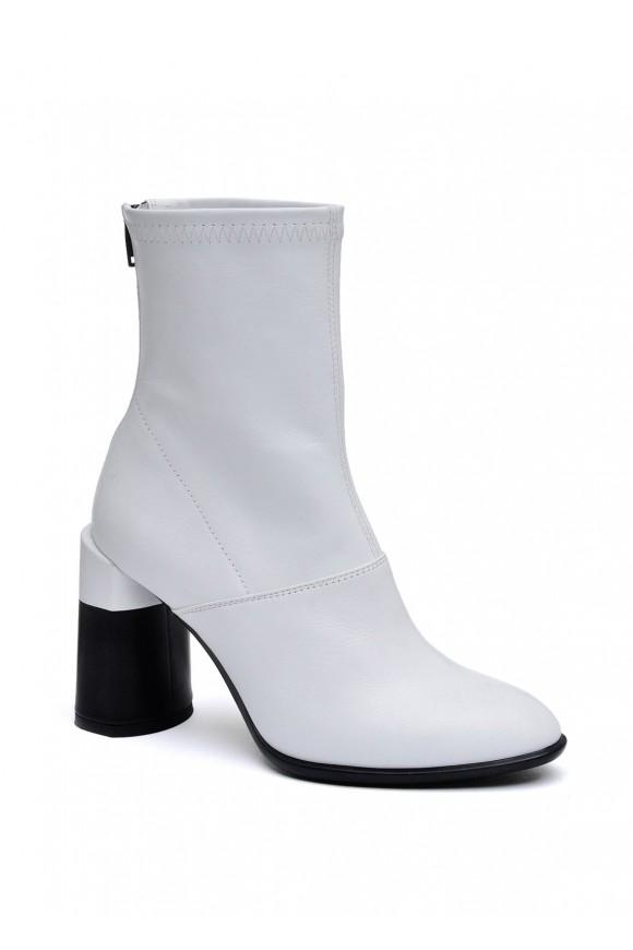 892214 Белые кожаные ботинки