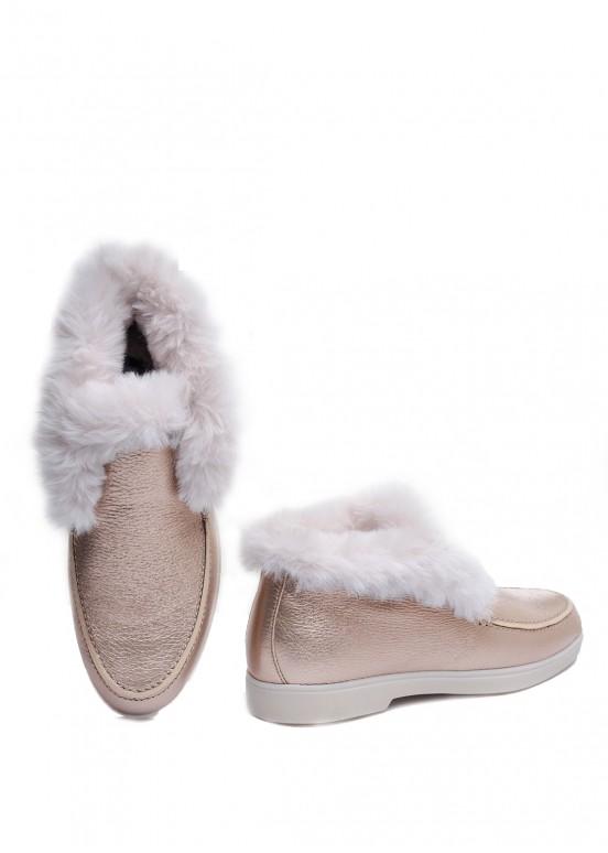 329911 Стильные ботинки из кожи оленя