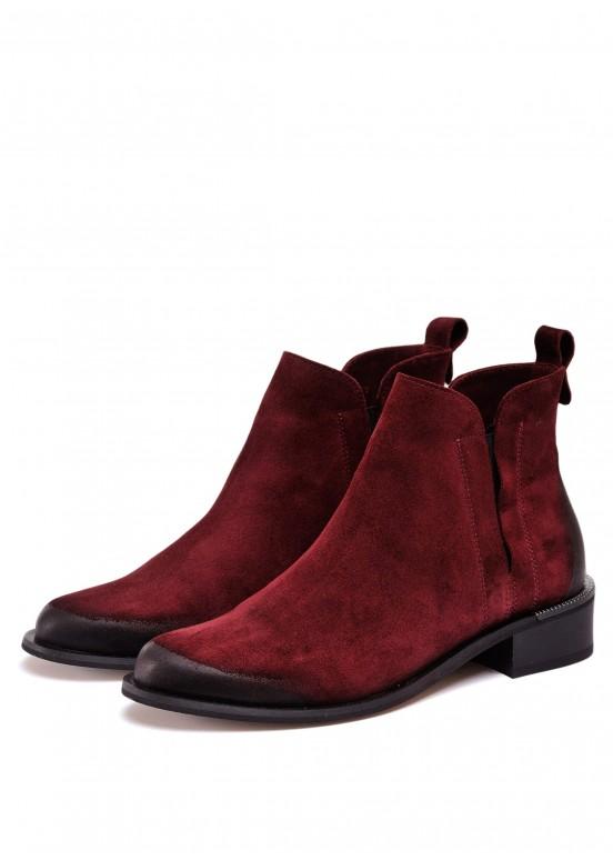 531274 Бордовые ботинки