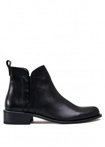 531234 Шкіряні чорні черевики