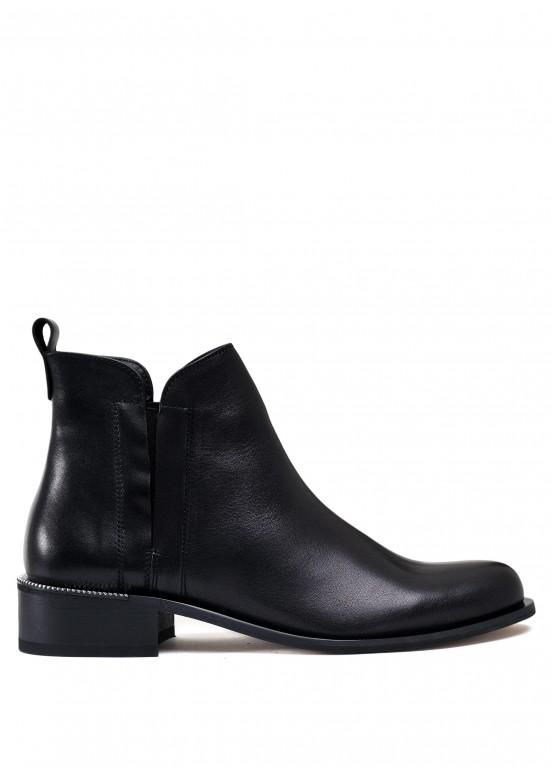 531234 Кожаные черные ботинки