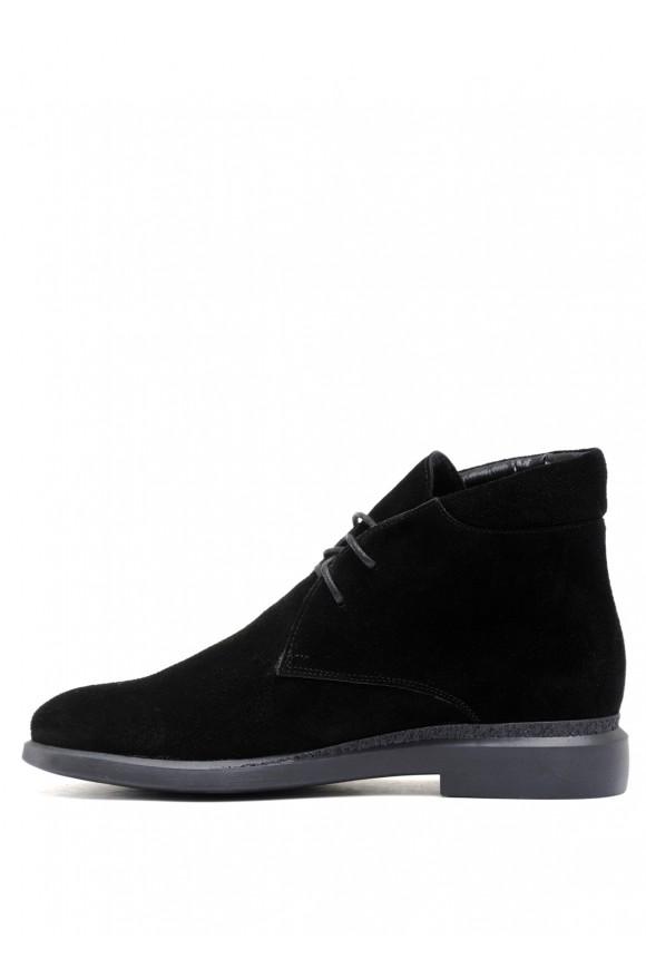 271131 Чорні замшеві черевики