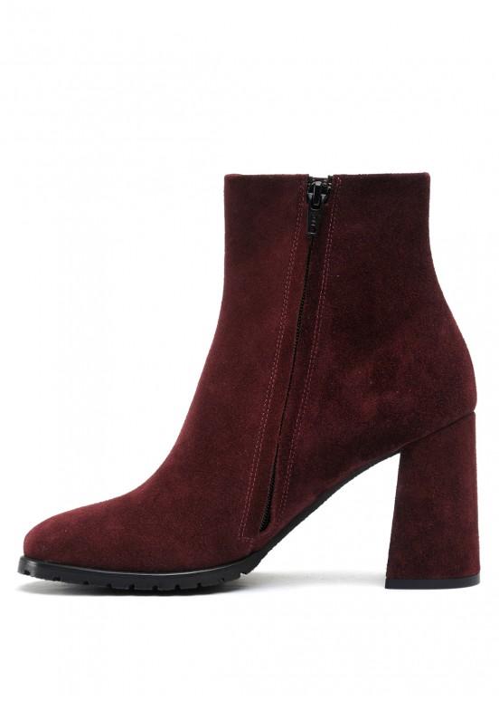 337073 Бордовые замшевые ботинки