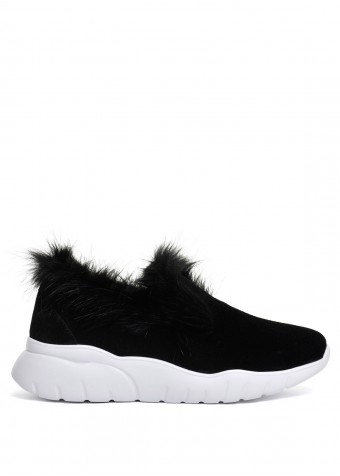 564707 Черные замшевые кроссовки