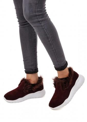 564717 Замшевые бордовые кроссовки