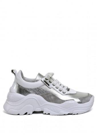 """565500 Белые кожаные кроссовки """"Ugly shoes"""""""