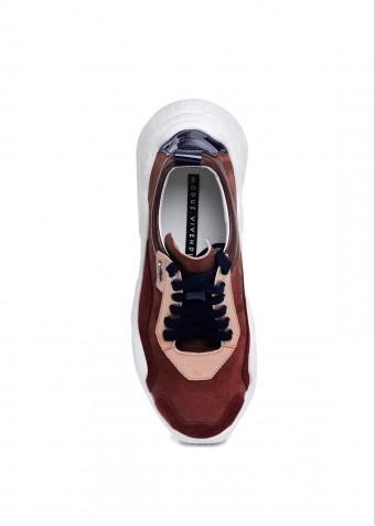 """565530 Бордовые Кроссовки Замшевые """"Ugly shoes"""""""