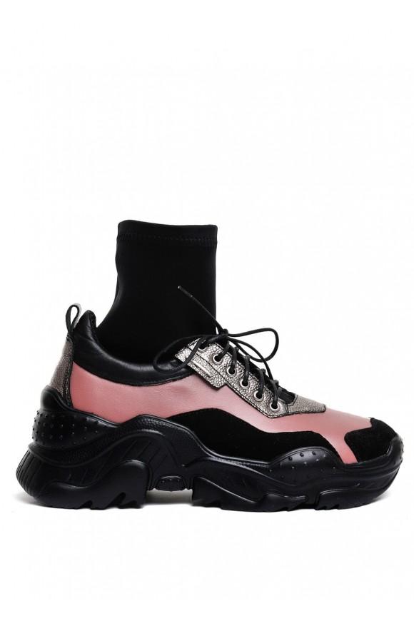 Кросівки з Панчохою Шкіряні