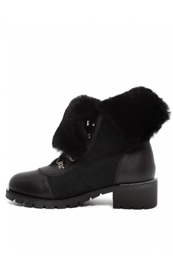 014301 Кожаные зимние ботинки