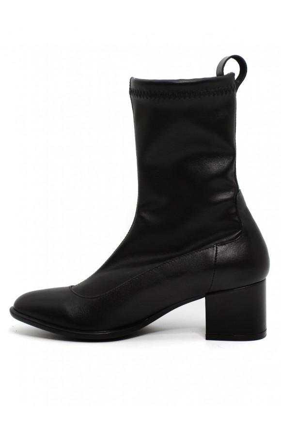 096101 Черные ботинки из искусственной итальянской кожи
