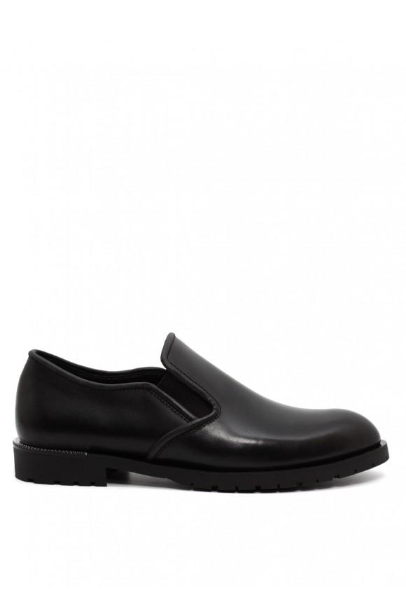 250301 Чорні шкіряні туфлі
