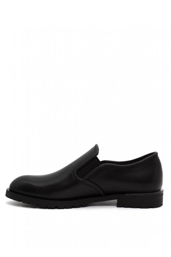 250301 Черные кожаные туфли