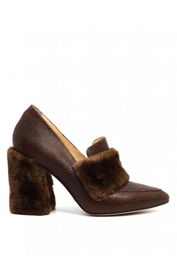 1545/1 Шкіряні коричневі туфлі