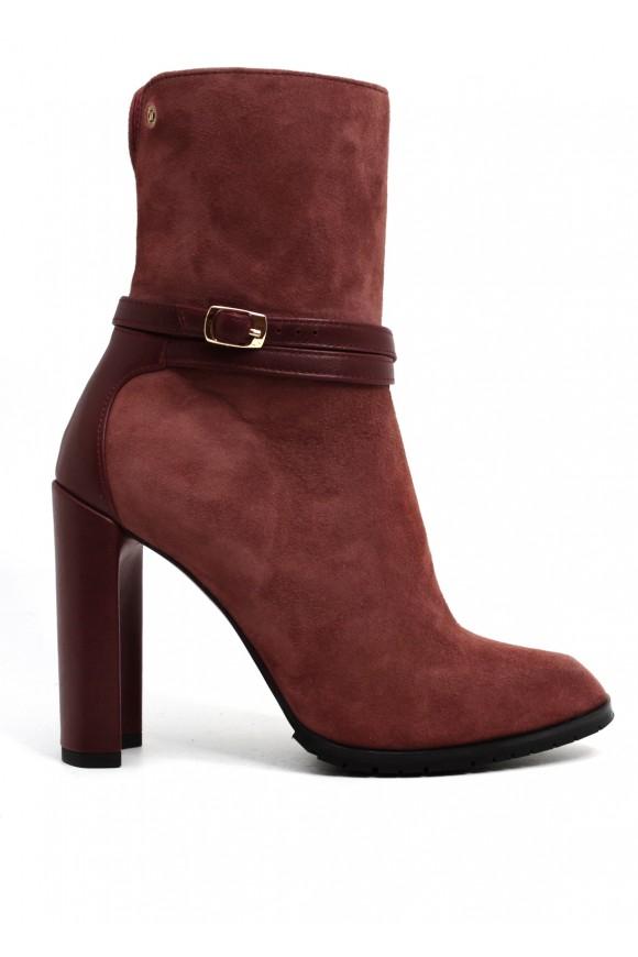 856011 Кожаные ботинки карамельного цвета