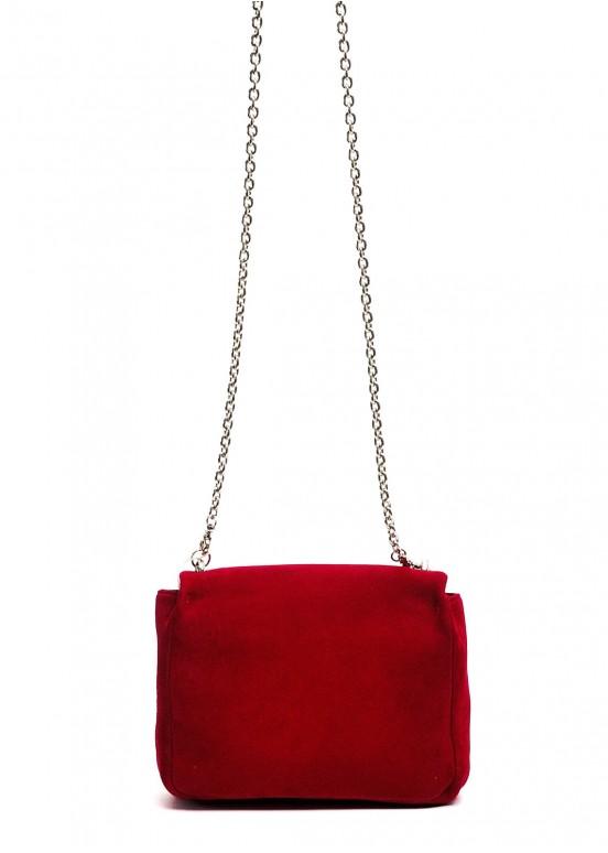 10130 Красная замшевая сумка