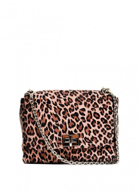 10131 Замшевая леопардовая сумка