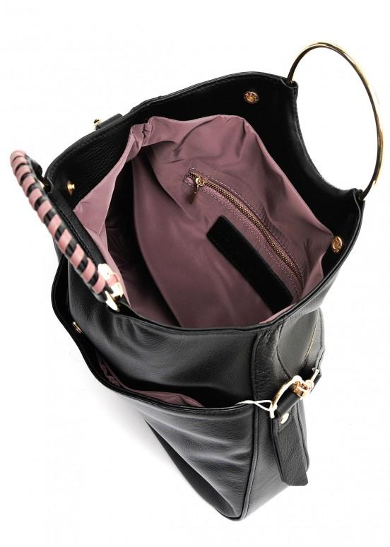 10181 Черная кожаная сумка