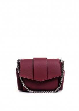 10230 Кожаная бордовая ременная сумка