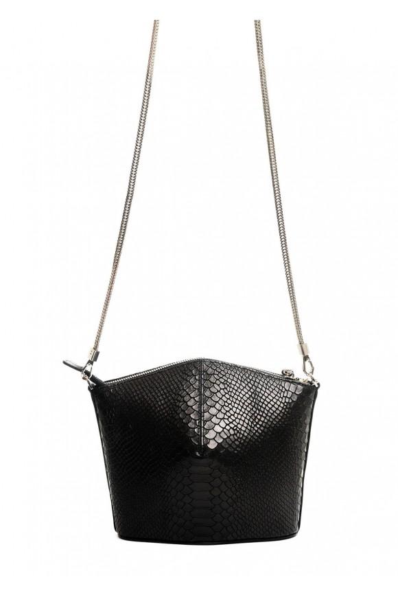 10241 Кожаная черная сумка