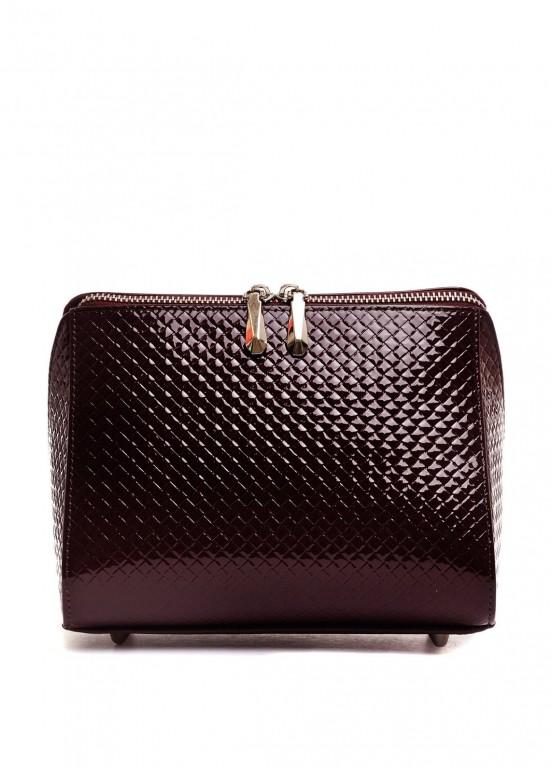10251 Лаковая бордовая сумка