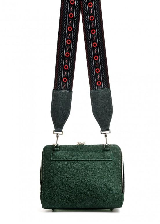 10252 Кожаная зеленая сумка