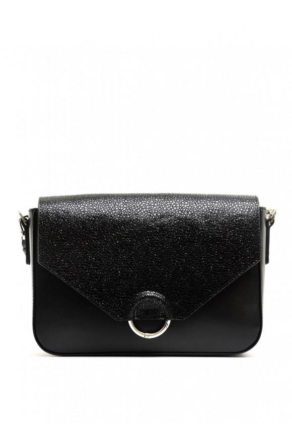10401 Черная кожаная сумка