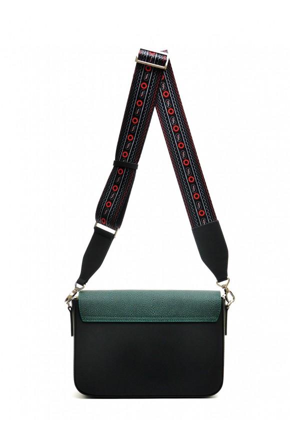 10402 Зеленая кожаная сумка