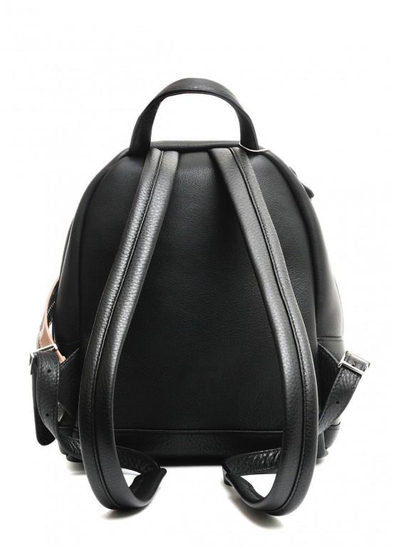 10420 Черный кожаный рюкзак