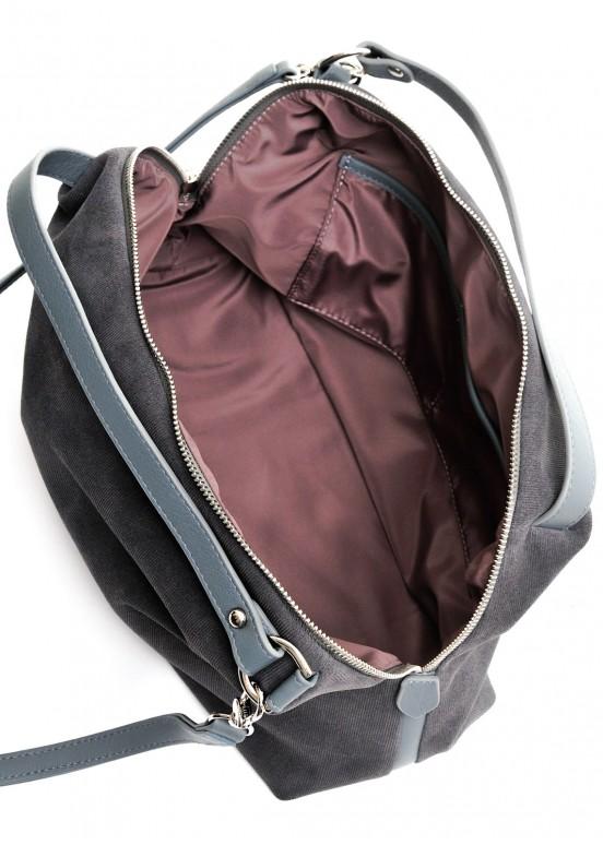 89201 Серая замшевая сумка