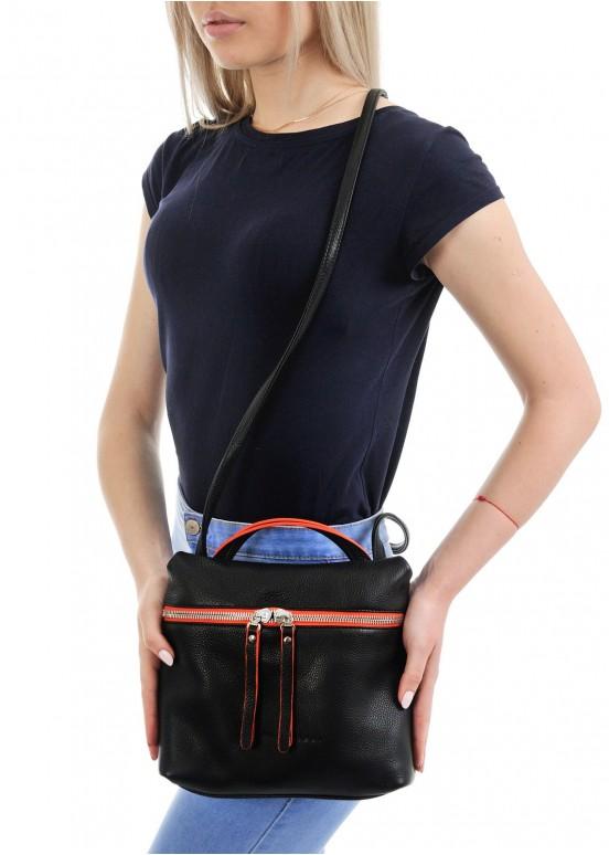 95506 Кожаная черная сумка