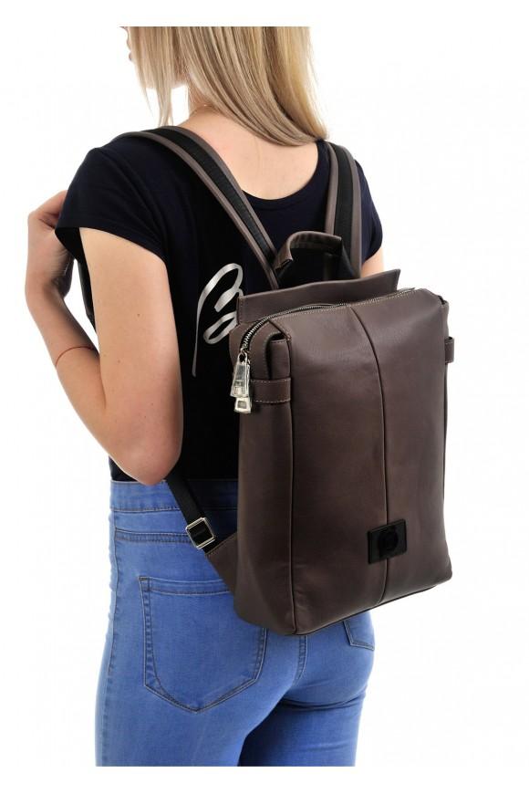 98201 Бежевый кожаный рюкзак