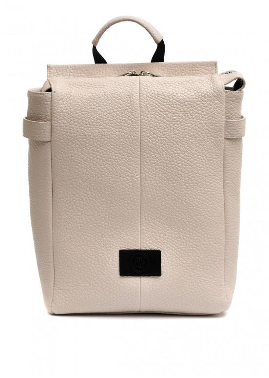 98202 Кожаный светло-бежевый рюкзак