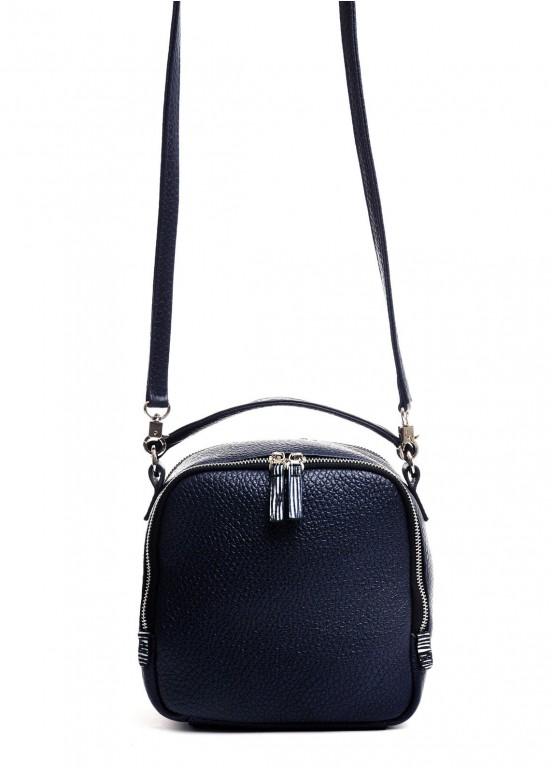 98901 Кожаная синяя сумка